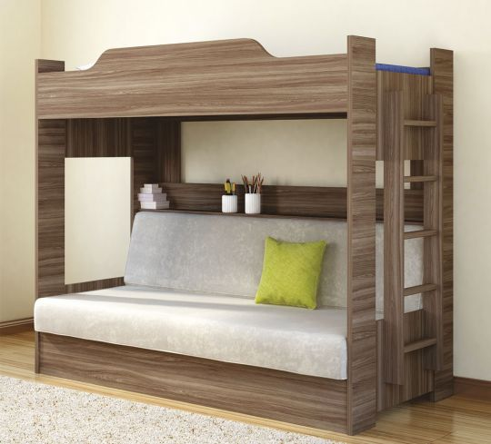 Детская двухъярусная кровать Боровичи с диван-кроватью