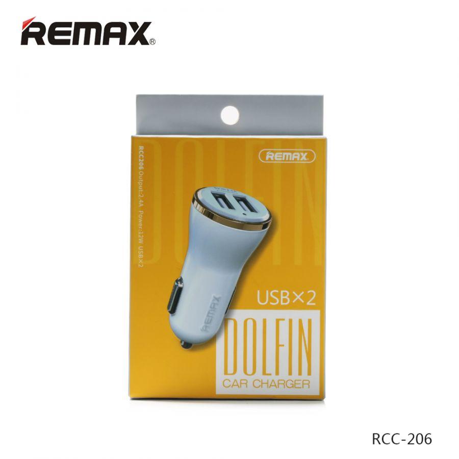 ЗУ в прикуриватель на 2 гнезда USB Remax DOLFIN