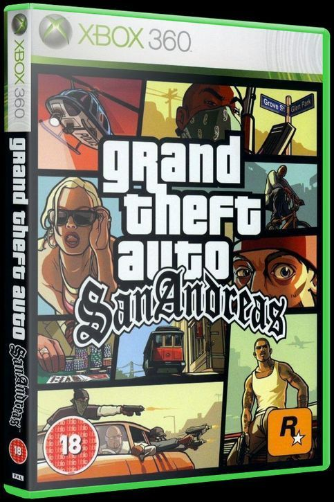 Игра Grand Theft Auto (GTA) San Andreas (Xbox 360)