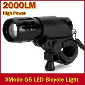 Велосипедный светодиодный фонарь с креплением на руль 7 Вт 2000 люмен 3 Режима диоды CREE Q5   водонепроницаемый