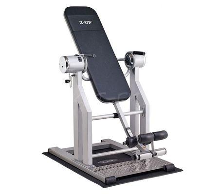 Z-UP 2S инверсионный стол, серебряная рама, черная спинка