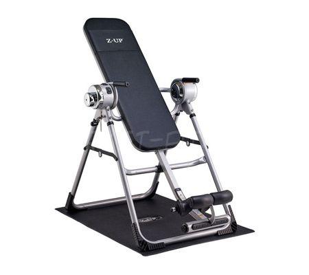 Z-UP 3 инверсионный стол, серебряная рама, черная спинка