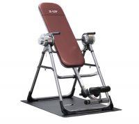 Z-UP 3 инверсионный стол, серебряная рама, коричневая спинка