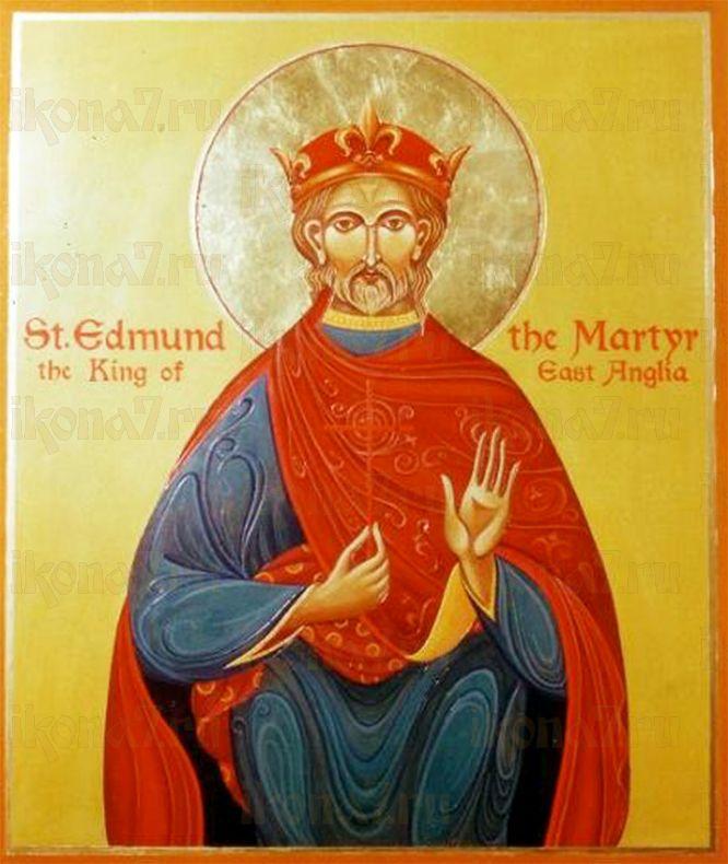Эдмунд Английский (рукописная икона)