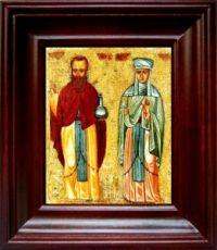 Андроник Антиохийский и Афанасия (21х24), простой киот