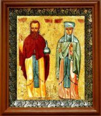 Андроник Антиохийский и Афанасия (19х22), светлый киот