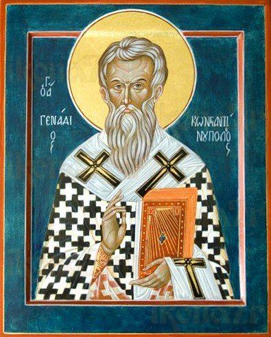 Геннадий Константинопольский (рукописная икона)
