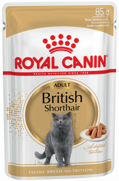 Роял канин Британская Короткошерстная в соусе пауч (British Shorthair Adult Gravy) 85г.