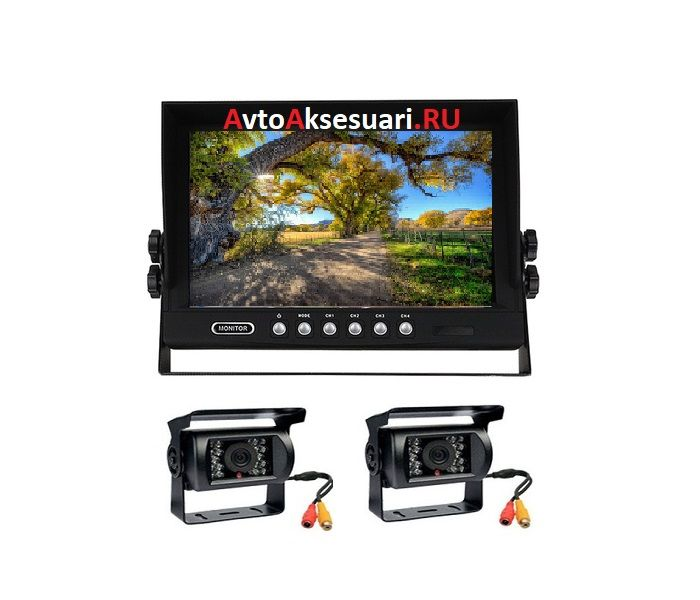Камеры заднего вида 2 шт с монитором 9 дюймов для грузовиков PZ7002