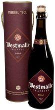 """Пиво """"Westmalle Trappist Dubbel """" 0.75 л в подарочной тубе"""
