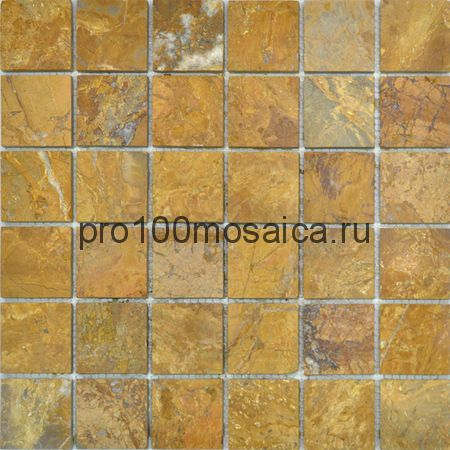 CV20014 Мозаика Mos.Polished Golden Travertin 50х50, 305х305х10 мм (Colori Viva)