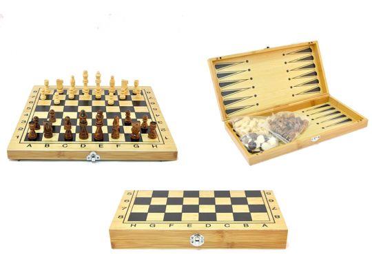 Шахматы шашки нарды - Деревянные большие 400*400