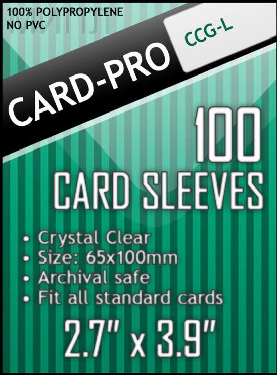 Протекторы Card-Pro CCG-L Size 67*103 мм