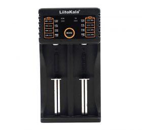 Зарядное устройство на 2 аккумулятора Liitokala lii-202/lii-402 18650 26650 автоматическое, определение элемента питания