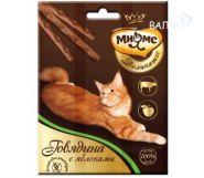 Мнямс Деликатес Лакомые палочки для кошек с говядиной и яблоком (3*4 г)