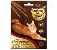 Мнямс Деликатес Лакомые палочки для кошек с курицей и лесными ягодами (3*4 г)