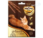 Мнямс Деликатес Лакомые палочки для кошек с лососем и манго (3*4 г)