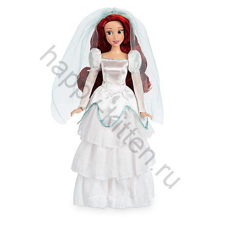 Игрушка кукла русалочка в свадебном платье
