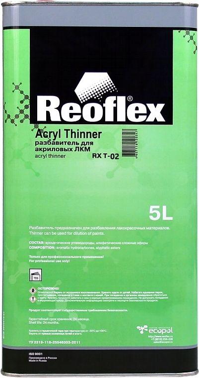 Reoflex Разбавитель медленный для акриловых ЛКМ, 5л.
