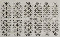 """Наклейки для ногтей """"Черные"""" NFM 029"""