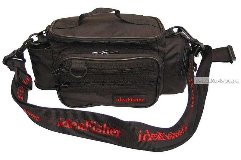 Купить Stakan-100 Лайтовик ЧЕРНЫЙ Шейно-поясная сумка с держателем удилища