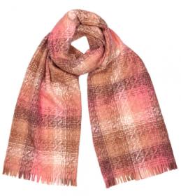 шотландский теплый плотный палантин (большой шарф) с субрисунком,  100% шерсть ягненка Берти Ламфэнэн BERTIE LUMPHANAN LAMBSWOOL плотность 5