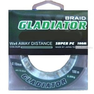 Леска плетёная Gladiator PE х4 100 м / цвет: Темно-зеленый