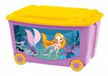 Ящик для игрушек на колесах 580х390х335мм с апликацией
