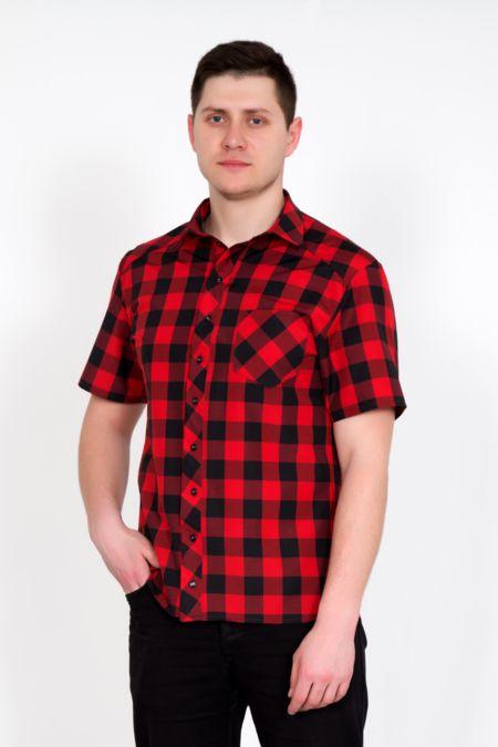 """Мужская рубашка """"Армандо"""" красная"""
