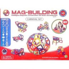 Магнитный конструктор MAG-BUILDING - 138 деталей!
