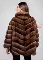 Куртка из баргузинского соболя автоледи купить в Москве дизайнерская Италия на заказ фото цены