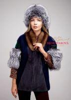 Меховая куртка из норки, лисы и соболя фото