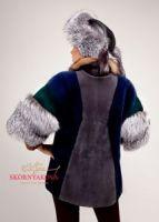 Меховая куртка из норки, лисы и соболя фото. Шапка-ушанка
