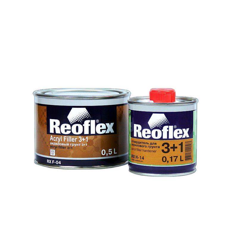 Reoflex Грунт акриловый 2K 3+1 серый (комплект), 500мл. + 167мл.