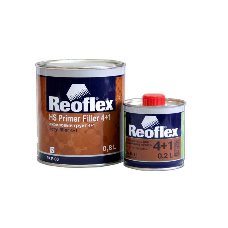 Reoflex Грунт акриловый 2K 4+1 белый (комплект), 800мл. + 200мл.