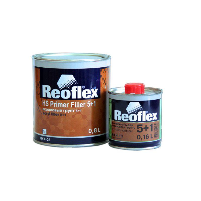 Reoflex Грунт акриловый 2K 5+1 серый (комплект), 800мл. + 160мл.