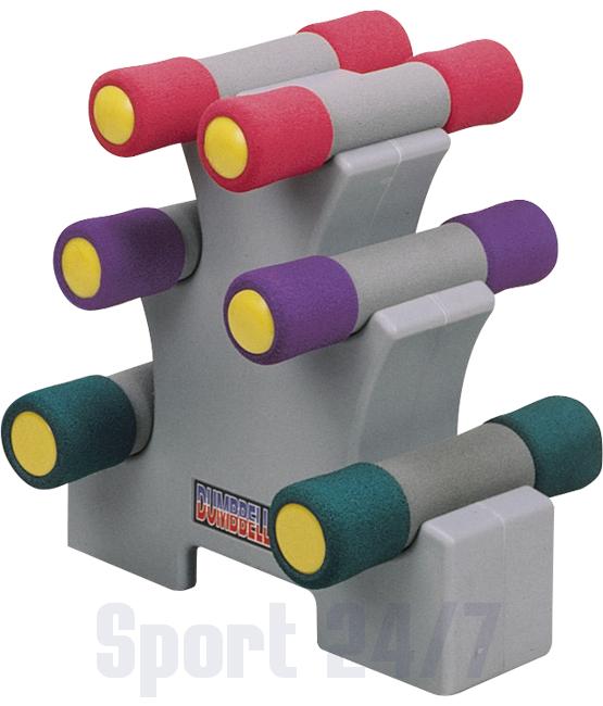 Набор неопреновых гантелей 4.54 кг. на подставке Oxygen P800-10LB
