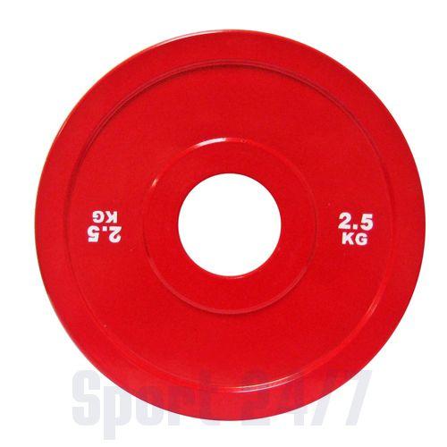 Диск стальной 2,5 кг красный DHS для пауэрлифтинга