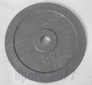 Диск технический пластиковый 5 кг., цвета красный, серый (диаметр 450 мм)