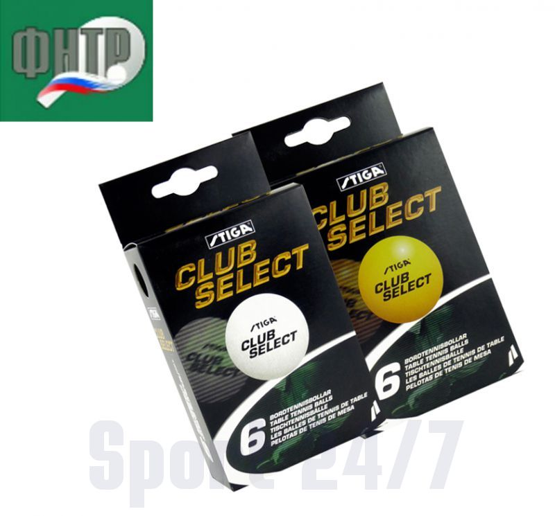 Мячи Stiga Club Select белые (6 шт.) 5120-06