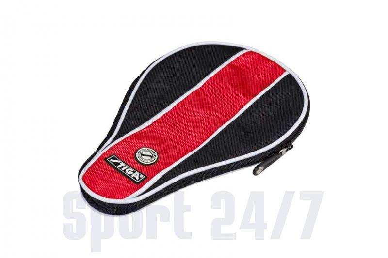 Чехол по форме ракетки Stiga Stripe (черный-красный)
