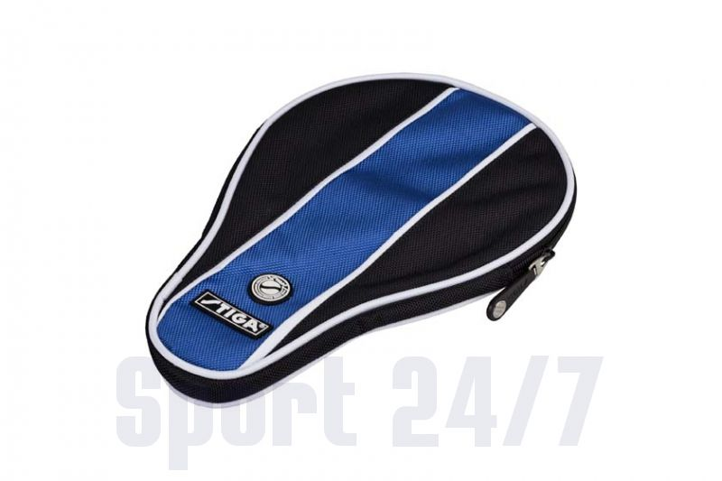 Чехол по форме ракетки Stiga Stripe (черный-синий)