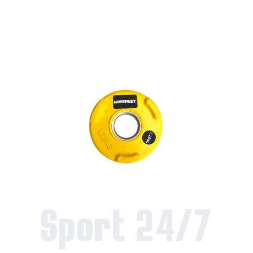 Диск олимпийский цветной обрезиненный HYPERSET WP074-1.25