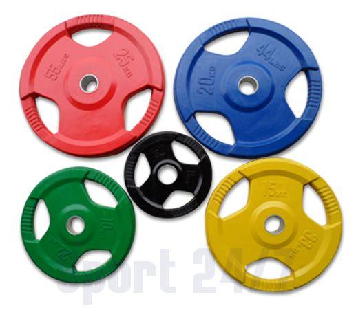 Олимпийские обрезиненные диски (цветные) RCP 02-1,25
