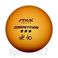 Мячи Stiga Competition *** оранжевые  (3 шт.) 5165-03