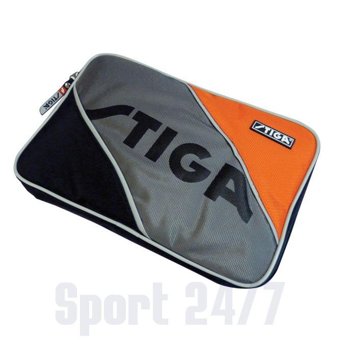 Чехол прямоугольный на 1 ракетку Stiga Tournament (серо-оранжево-черный)
