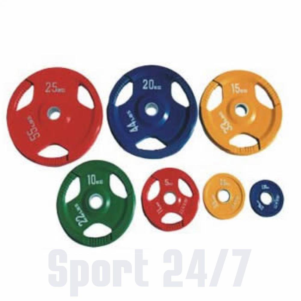 Диск олимпийский цветной Alex DY-H-2012-2.5