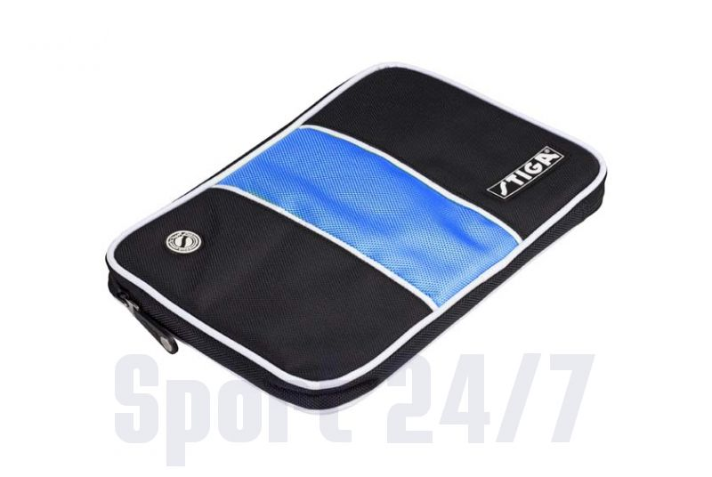 Чехол прямоугольный на 2 ракетку Stiga Stripe Maxi (черно-синий)