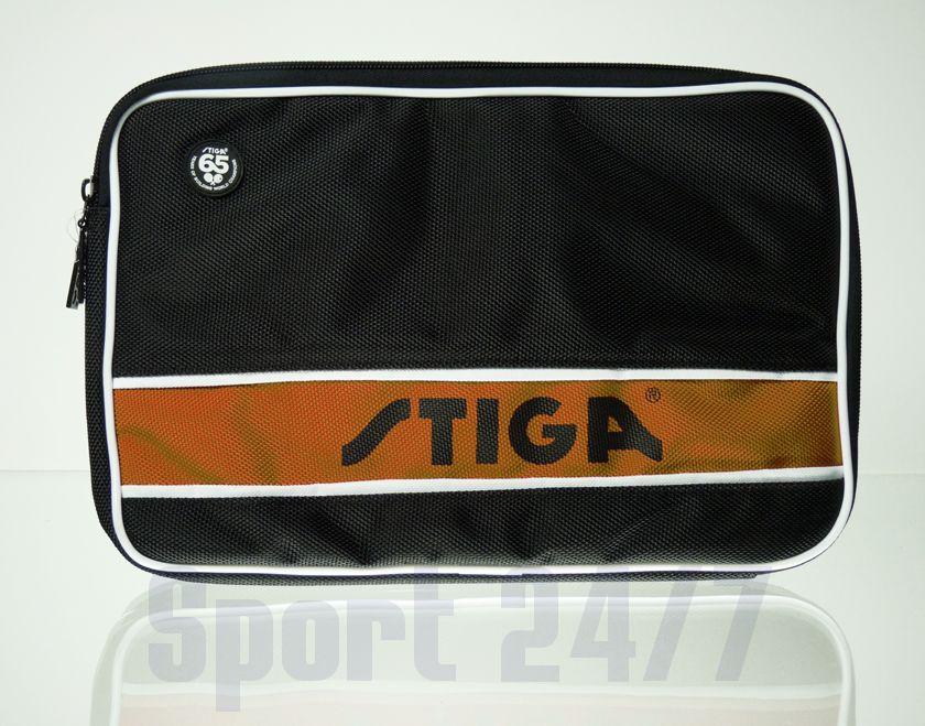 Чехол прямоугольный на 2 ракетку Stiga  Style Maxi (черно-оранжевый)