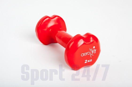 Гантель в виниловой оболочке 2 кг, красный AEROFIT DB-VD-2K